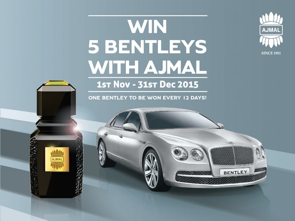 Win 5 Bentleys With Ajmal Perfumes!