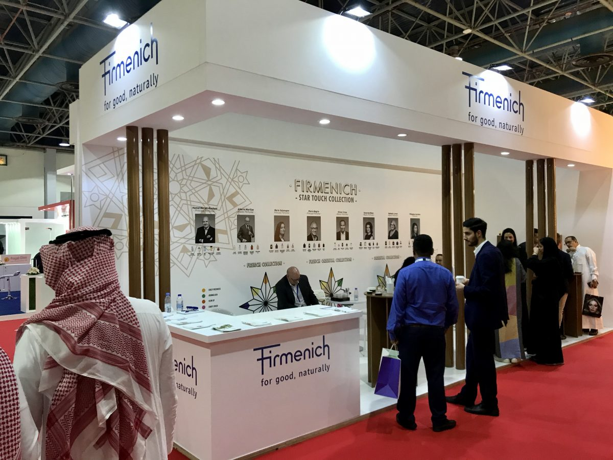 Firmenich booth at Beautyword 2019