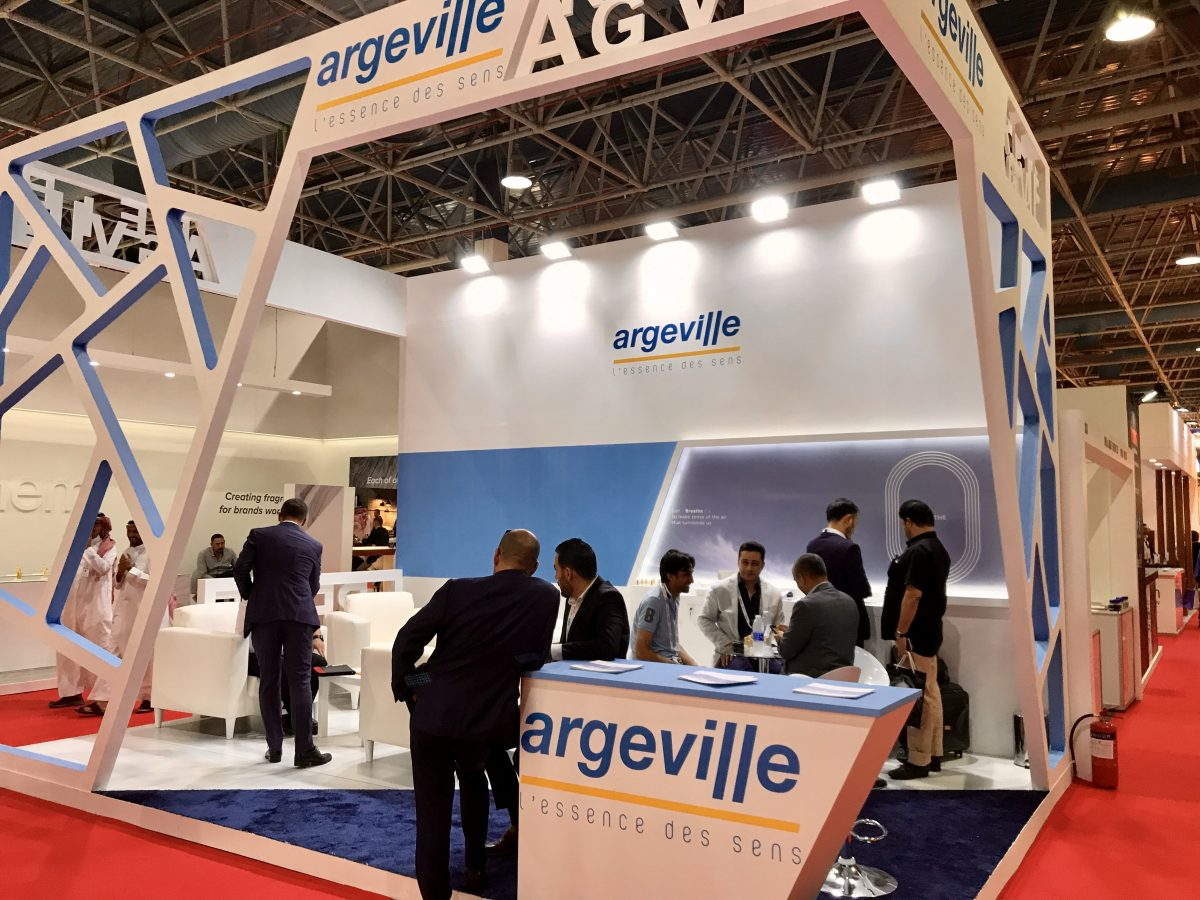 Argeville booth at Beautyword 2019