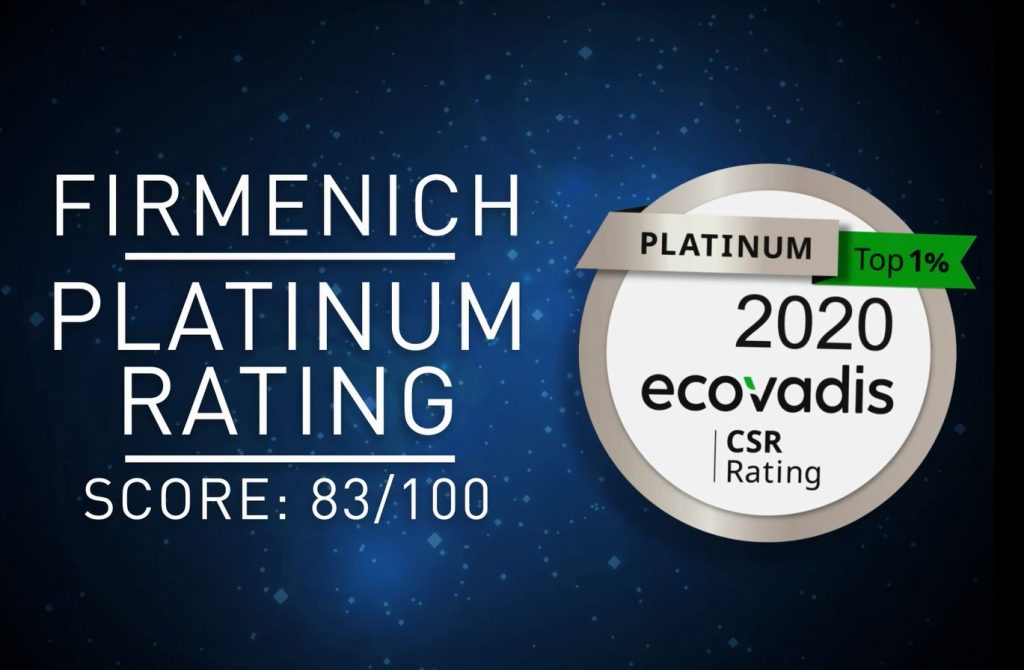 Firmenich Achieves Top Rating By EcoVadis Platinum